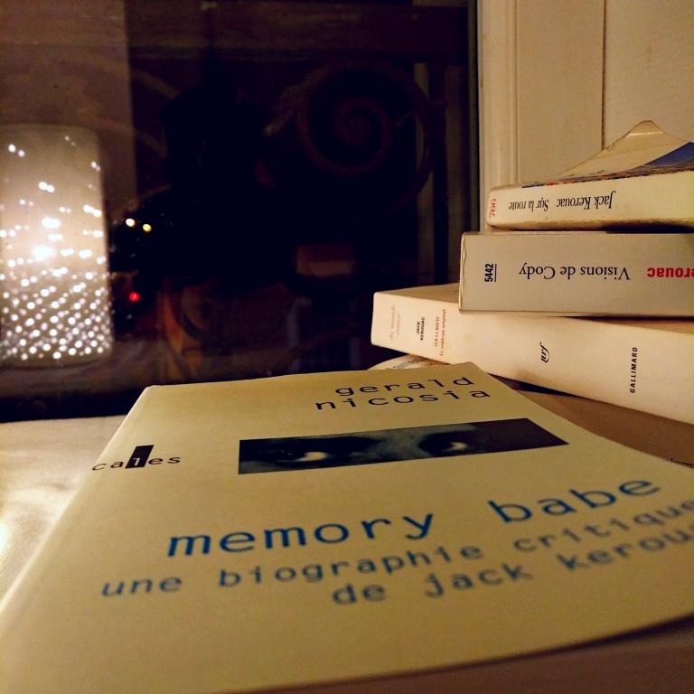 """Biographie Critique de Jack Kerouac de Gerald Nicosia ; c'est dans ce livre que j'ai trouvé cette idée de """"croquis"""" applicable aux mots"""